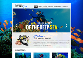 Diving Club – Free HTML5 Template
