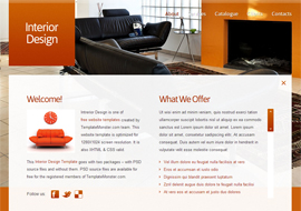 Interior Design – Free HTML5 Template