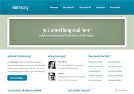 Minimaxing – Free HTML5 Template