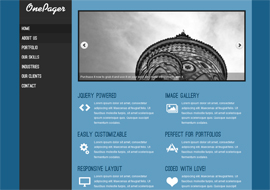 OnePager – Free Responsive WordPress Theme