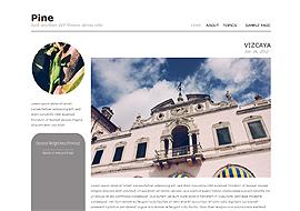 Pine – Free HTML5 Responsive WordPress Theme
