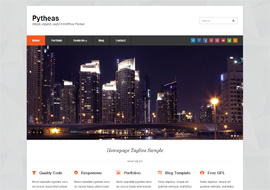 Pytheas – Free HTML5 Business Corporate Responsive WordPress theme
