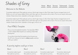 Shades of Grey – Free HTML5 Template