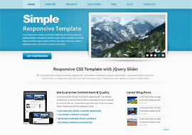 Simple – Free HTML5 CSS3 Responsive Template