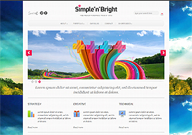 SimplenBright – Free HTML5 Premium WordPress Theme