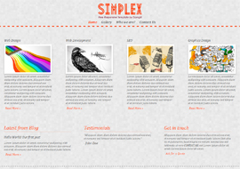 Simplex – Free HTML5 Responsive Template