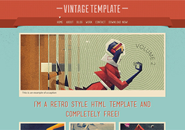 Vintage – Free HTML5 Template