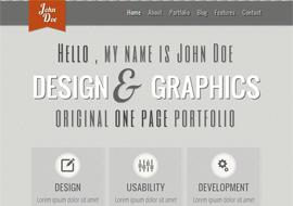 Responsive HTML5 CSS3 Portfolio Template