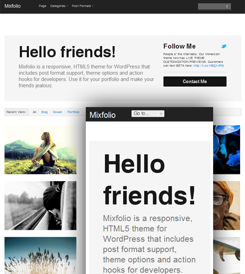 Responsive HTML5 Themes Free