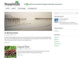 PressWork Free HTML5 WordPress Theme