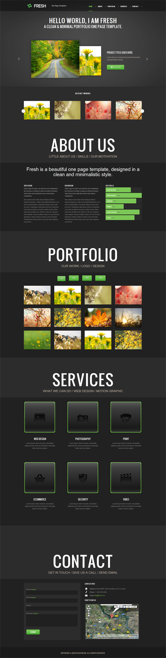 HTML5 CSS3 Premium Portfolio Templates free download
