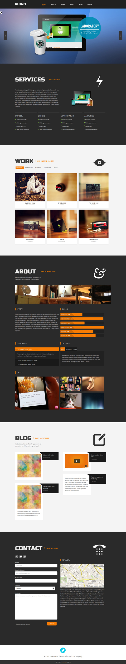 Single Page Premium Responsive Html5 CSS3 Template Free Download