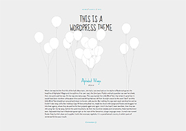 Balloons – Free Responsive WordPress Theme