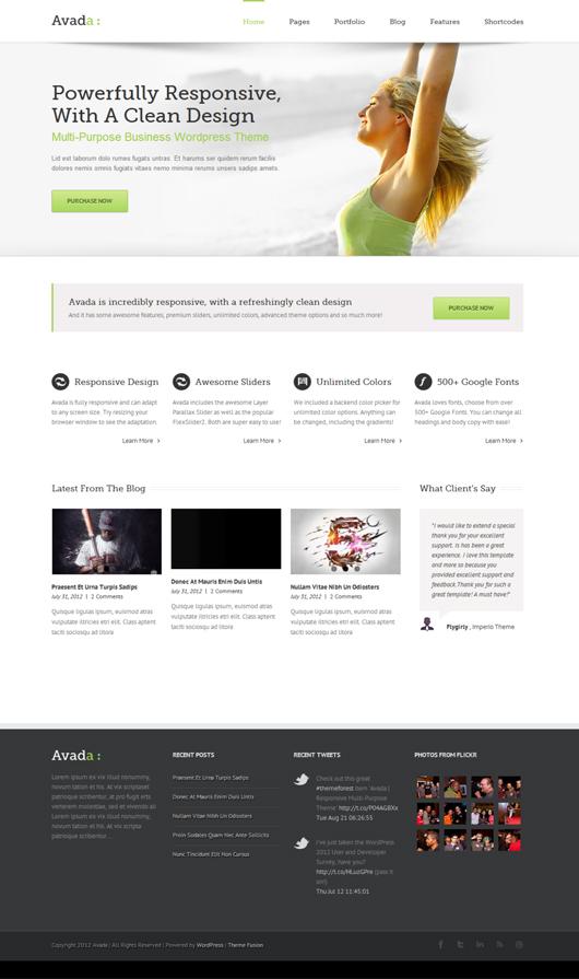 Avada – Premium responsive wordpress theme