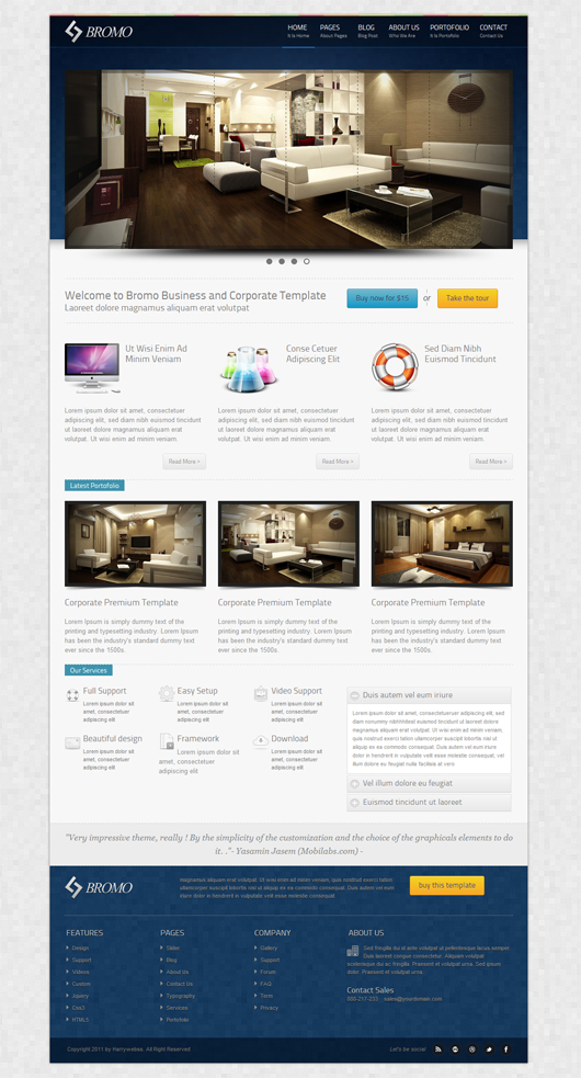 Premium HTML5 CSS3 Responsive Template Free Download