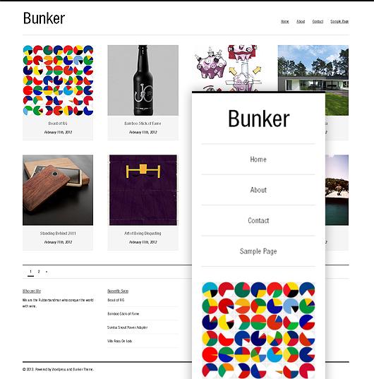 Bunker – Free Responsive WordPress Theme