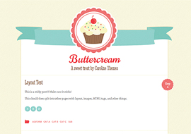 Buttercream – Free Responsive WordPress Theme