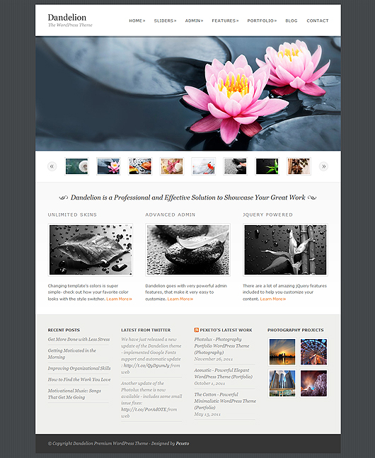 Premium HTML5 WordPress Theme Free Download