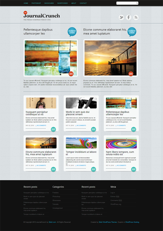 JournalCrunch – Free Premium WordPress Theme