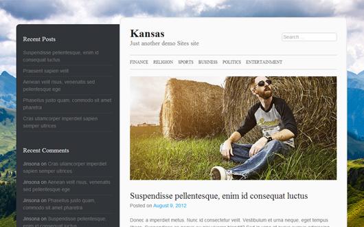 Kansas – Free HTML5 Responsive Theme