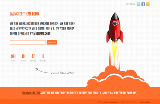 launcher free under construction template html5 mania