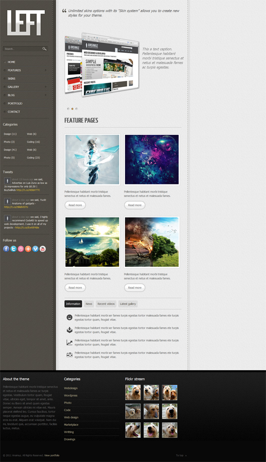 LEFT – Free HTML5 Template