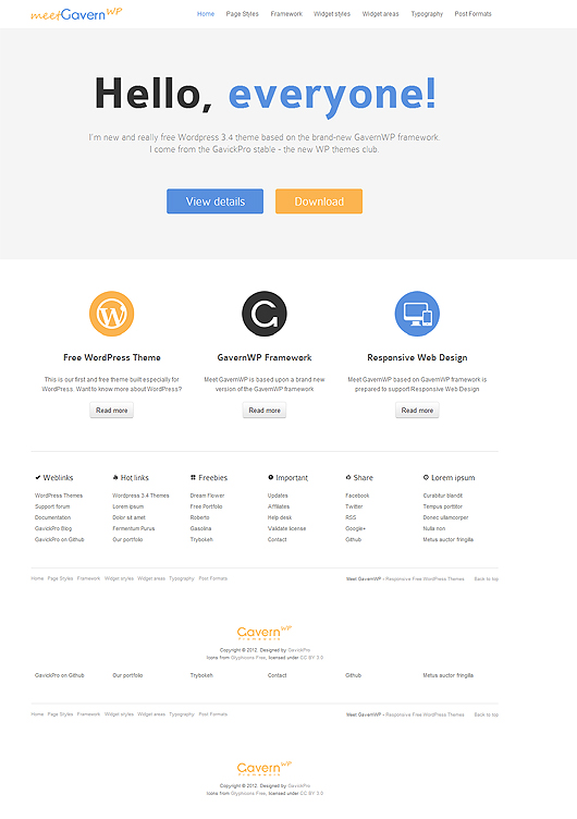 Meet GavernWP – A Free Responsive WordPress Theme