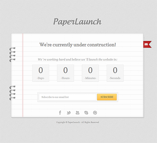 PaperLaunch – Free Under Construction Template