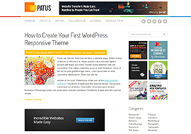 Patus- Premium Responsive WordPress Theme- Free Download
