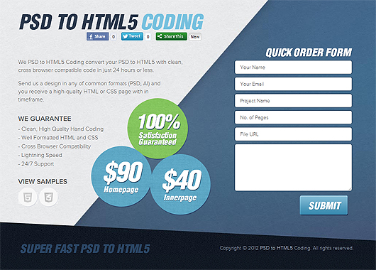 PSD to HTML5 Coding