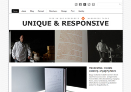 Unique – Free WordPress Theme