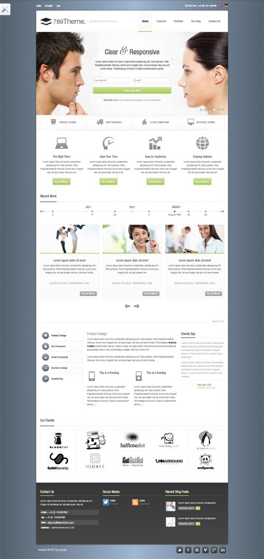 789Theme – Premium Responsive Site Template