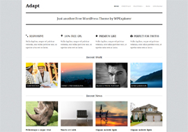 Adapt – Free Responsive Business Portfolio WordPress Theme
