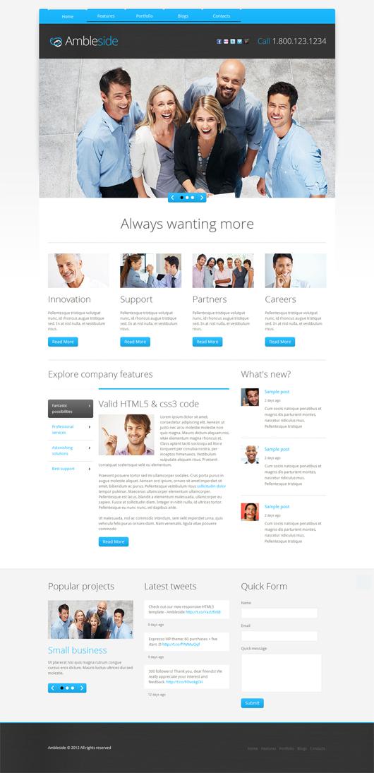Ambleside – Premium Responsive HTML5 Template