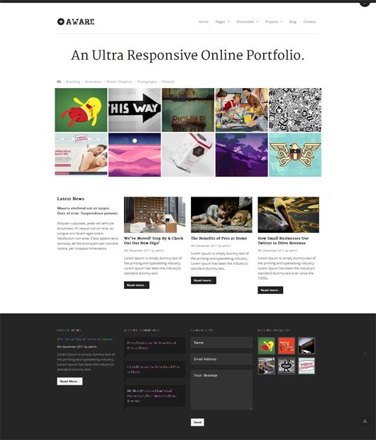 Aware – Premium Responsive WordPress Portfolio Theme