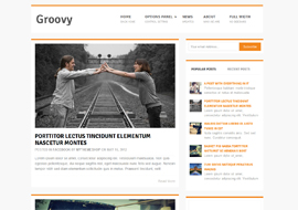 Groovy – Free Responsive WordPress Blog Theme