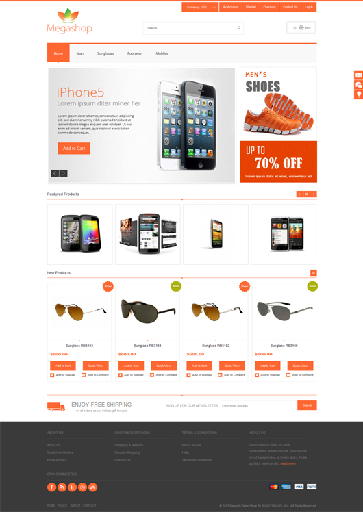 Megashop premium responsive magento theme html5 mania megashop is a fully responsive theme for magento which adapting display to all devices screen widescreen iphone ipad android pronofoot35fo Gallery