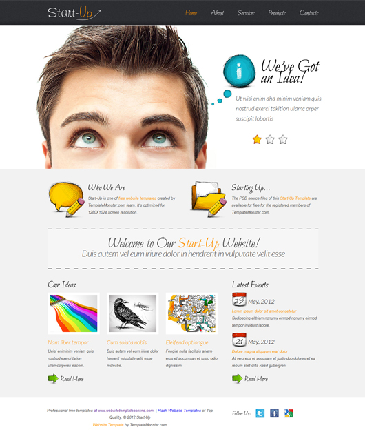 StartUp – Free HTML5 Template