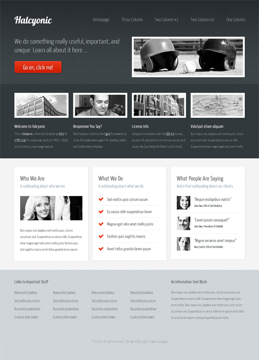 Halcyonic – Free HTML5 Template