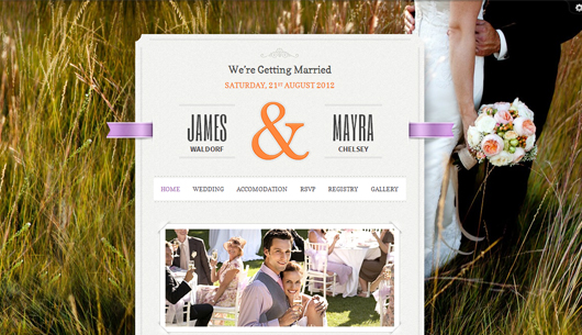 Just Married – Premium HTML5 WordPress Theme