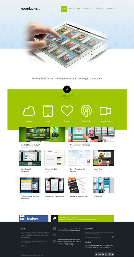 Moonlight – Premium WordPress Responsive Theme