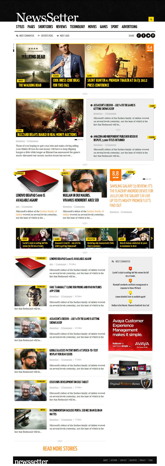 NewsSetter – Premium News WordPress Theme