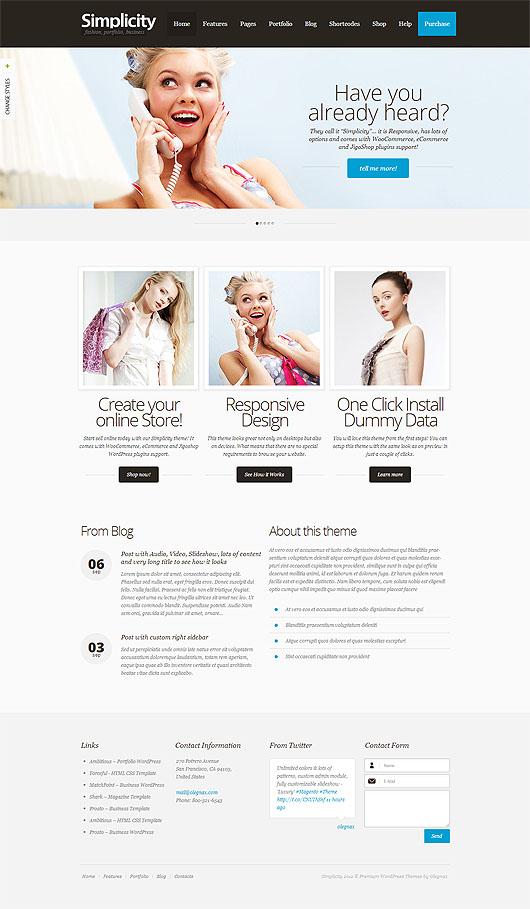 Simplicity – Premium Responsive eCommerce WordPress Theme