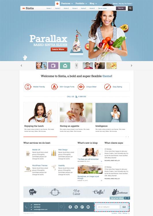 Sintia – Premium Responsive business Corporate Portfolio Theme