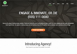 Agency- Premium Responsive Business Portfolio Template Built Using Twitter Bootstrap – FREE