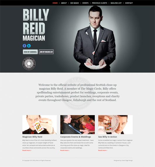 Magician Billy Reid