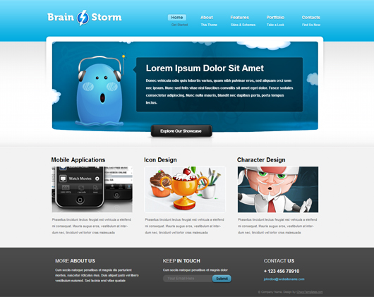 Brainstorm Free Html5 Website Template Html5 Mania