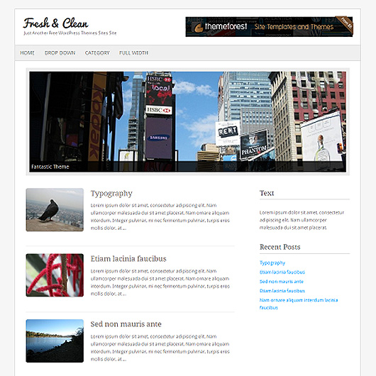 Fresh & Clean Free HTML5 Minimal WordPress Theme