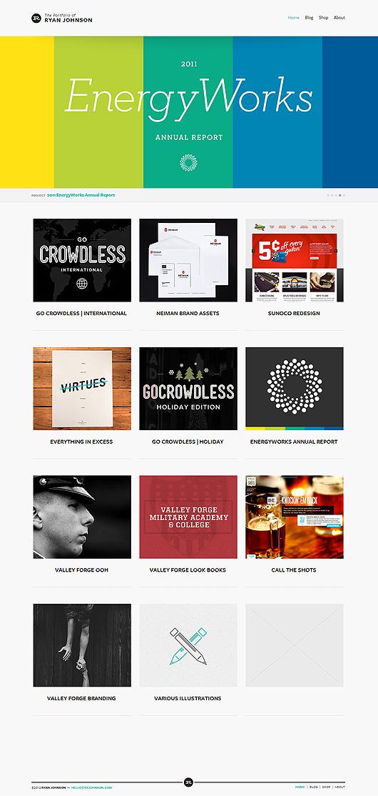 The portfolio of Ryan Johnson
