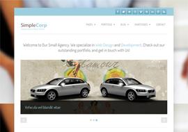 SimpleCorp – Free HTML5 Responsive WordPress Theme